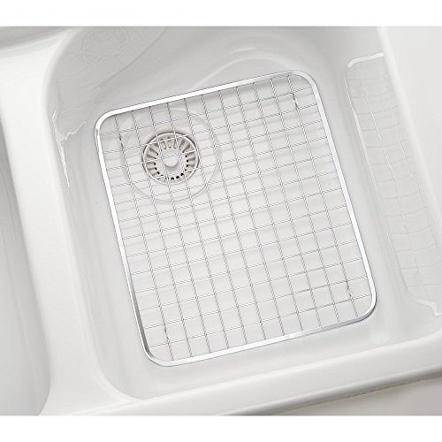 interdesign gia kitchen sink protector wire grid mat sink import it all. Black Bedroom Furniture Sets. Home Design Ideas