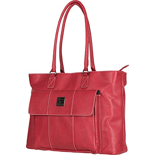 Kenneth Cole Reaction Women's Casual Fling Ladies Laptop Tote, Dark Red, One (Kenneth Cole Top Zip Shoulder Bag)