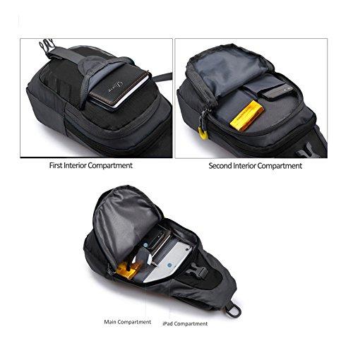 Sling Bag, P.K.VDSL Water Resistant Shoulder Backpack, Unisex Cross-body Bag, Chest Backpack, Gym Fanny Backpack For Men And Women Outdoor Cycling Hiking Camping Travel, NOBLE LION SERIES