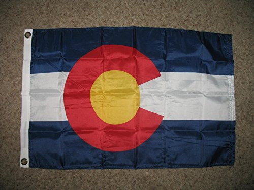 2x3 Colorado State Nylon Flag 2ft x 3ft Flag 2'x3' House (2 Side House Banner)