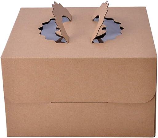 UPKOCH Caja de Pastel Cuadrada Caja de Pastel de Papel Kraft de 12 Pulgadas Contenedor de Embalaje de Magdalena Caja de Almacenamiento de Galletas de Papel para Pasteles Postres Panaderías Pasteles: Amazon.es: