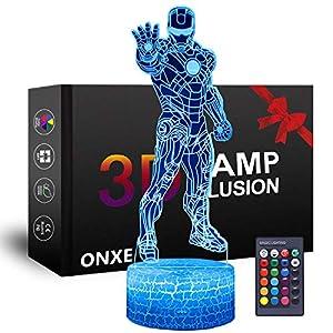LED Superhero 3D Night Light, ...