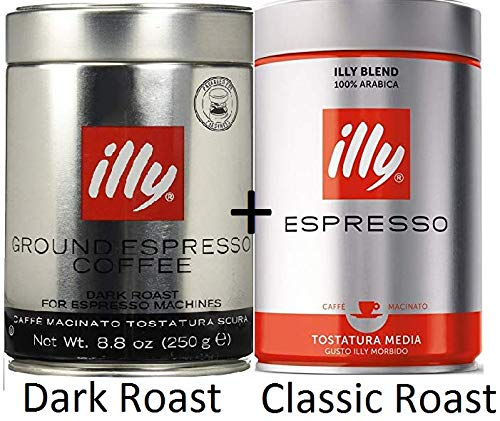 CDM product illy Classico Ground Espresso, Medium Roast, 100% Arabica Coffee Blend (Variety 6 Pack) big image