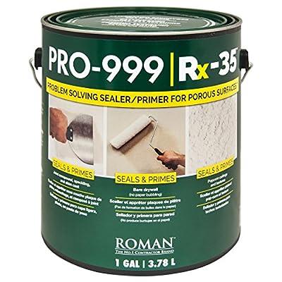 Roman 016901 PRO-999 Rx-35 Drywall Repair and Sealer Primer, 1 gal