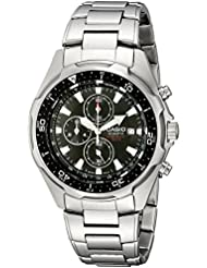 Casio Mens AMW330D-1AV Stainless Steel Watch with Link Bracelet