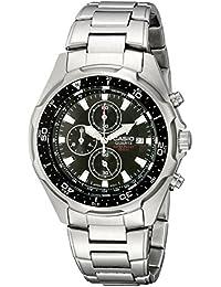 Men's Chronograph AMW330D-1AV Stainless Steel Watch with Link Bracelet