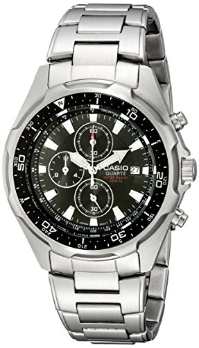 Casio Men's AMW330D-1AV Stainless Steel Watch with Link Bracelet (Chronograph Link Watch)
