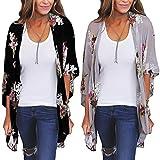 #10: Tootu Women Chiffon Loose Shawl Print Kimono Cardigan Top Cover up Blouse Beachwear
