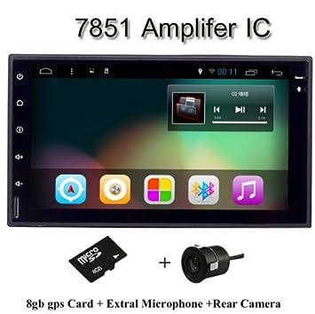 aoauto® 1024 * 600 Android 4.4 para coche PC Tablet Universal 2Din para Nissan GPS navegación BT Radio estéreo reproductor de audio: Amazon.es: Electrónica