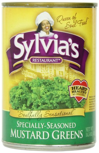 Green Mustard - Sylvia's Mustard Greens, 14.5 Ounce Packages (Pack of 12)