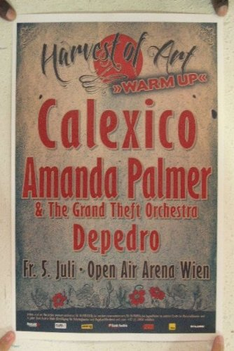 Calexico Amanda Palmer July-5th Open Air Arena Wien Poster Concert Gig