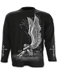 Mens - ENSLAVED ANGEL - Longsleeve T-Shirt Black