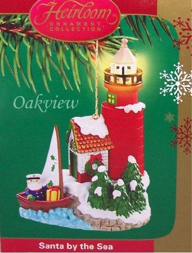 Carlton Cards 2005 Santa By The Sea  1 Lighthouse Ornament Cxor 088N