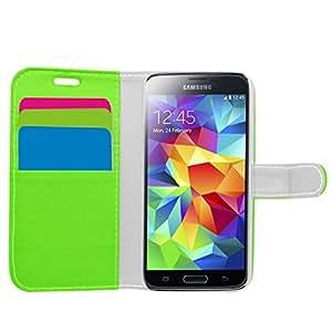 Samrick Ejecutivo Especialmente Diseñado Cuero Suave Estuche Cartera y Tarjetero Para Samsung Galaxy S5 Mini - Verde (Green)