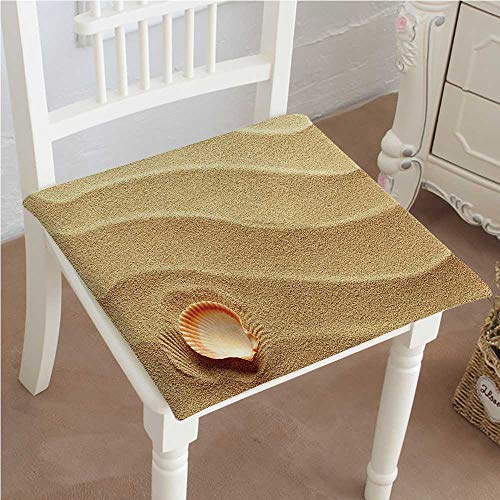 - Mikihome Indoor/Outdoor All Weather Chair Pads Little Seashell On Golden Sand Spiritual Sea Animal Coastal Theme Decor Beachy Art Seat Cushions Garden Patio Home Chair Cushions 30
