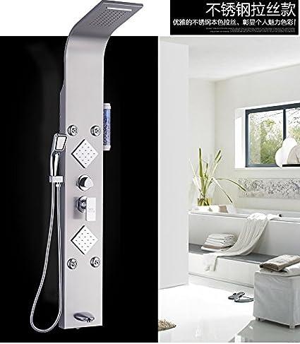 Hlluya Grifo Cocina Lavabo de Baño Calienta 304 Acero Inoxidable Multi-función de mampara de Ducha Grifo termostático más una mampara de Ducha Columna B: Amazon.es: Hogar