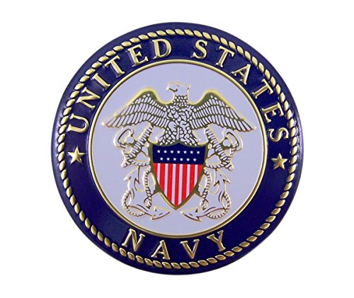 - United States Navy Military Metal Auto Decal Emblem, 2 Inch