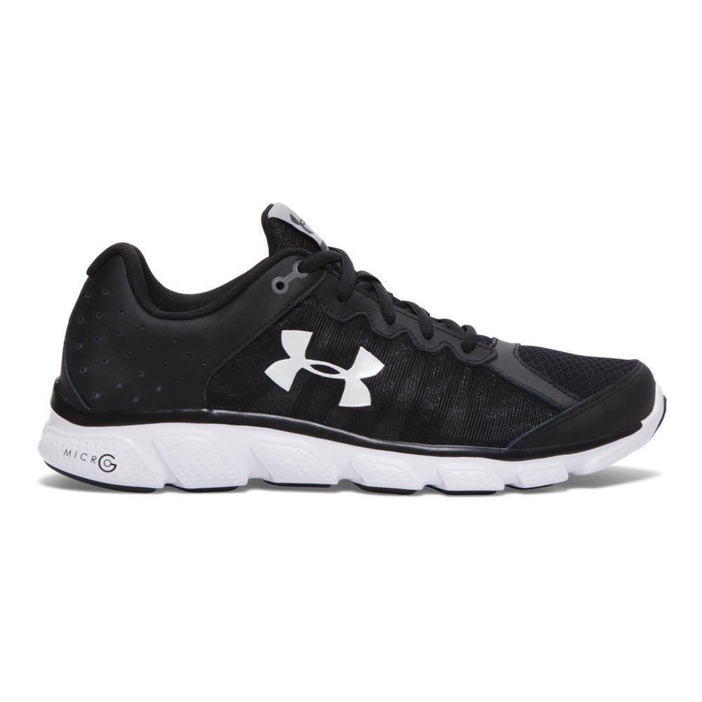 Under Armour Men's Micro G Assert 6 Running Shoe, Black (001)/White, 8