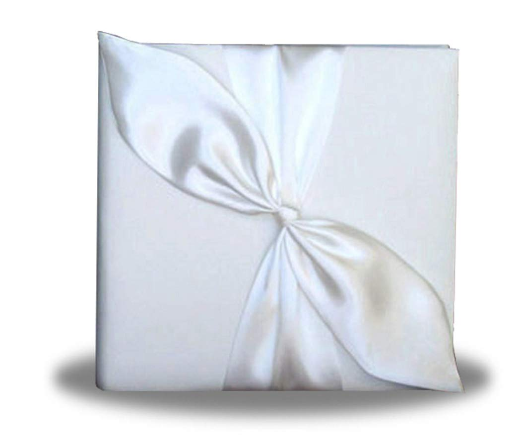 SACASUSA White Satin Bow Photo Album for Wedding, Anniversary, Engagement by SACASUSA (Image #1)