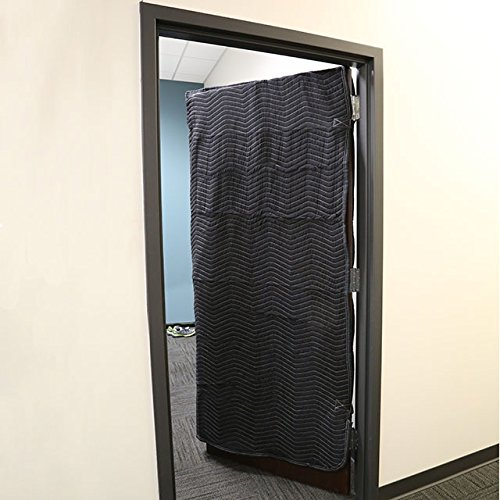 Quilted Microfiber Door Cover with Thick Batting