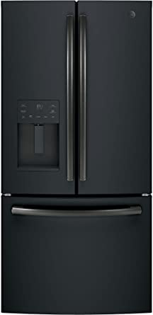 GE GYE18JEMDS Black Slate Series 33 Inch Counter Depth French Door  Refrigerator With 17.5 Cu.