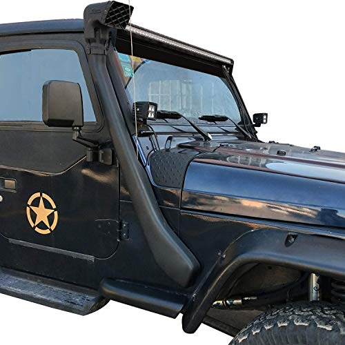 JeCar Black Cowl Armor Jeep Cowl Cover Body Armor Corner Guards Accessories for 1997-2006 Jeep Wrangler TJ Rubicon Sahara Sport X /& Unlimited 2//4 door-Pair