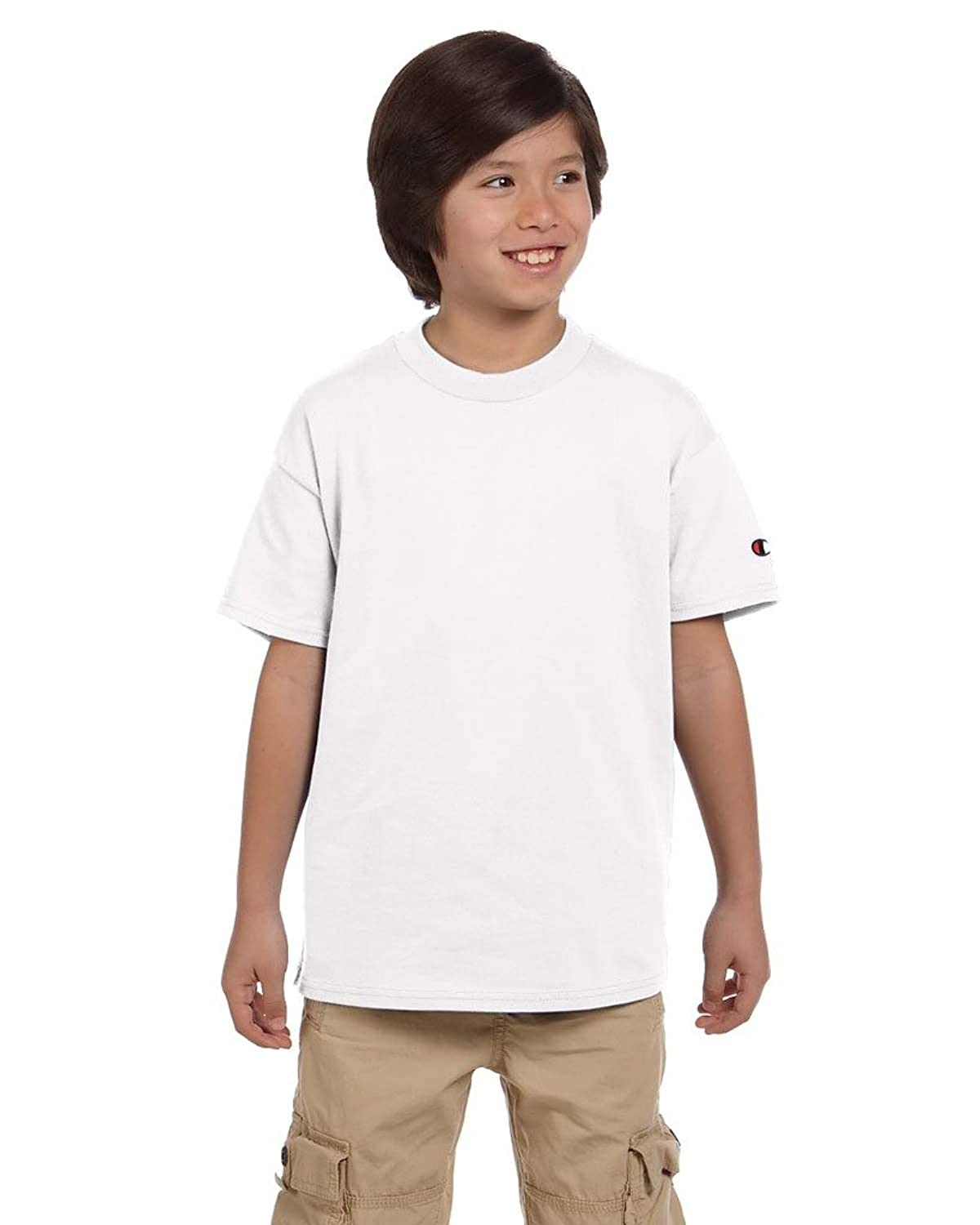 Top Champion Youth 6.1 Oz. Tagless T-Shirt, White, S hot sale