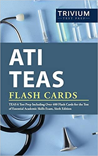 picture relating to Free Printable Teas Study Guide known as ATI TEAS Flash Playing cards: TEAS 6 Try Prep Which includes Higher than 400