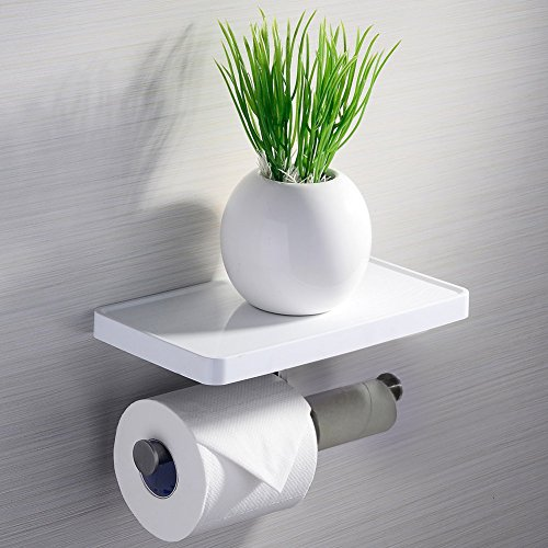 SR SUN RISE Toilet Paper Holder Double Roll Holder with Shelf, Stainless Steel 304+ABS, Wall Mount