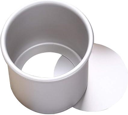 ZSWQ Stampo per torta rotondo in alluminio anodizzato profondit/à 5 x 4-pollici