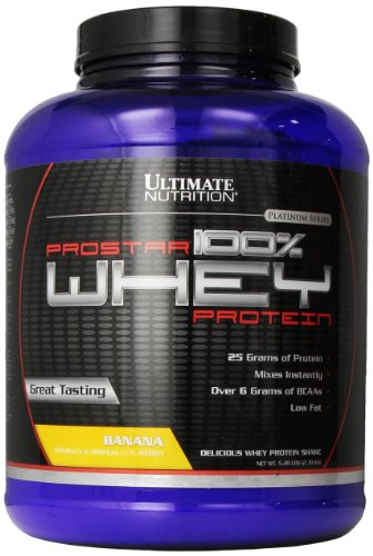 Ultimate Nutrition ProStar Whey Protein, Delicious Banana, 80 Ounces by Ultimate Nutrition