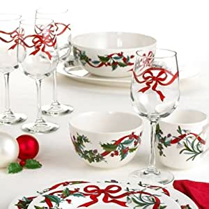 martha stewart holiday wine glass set of 4