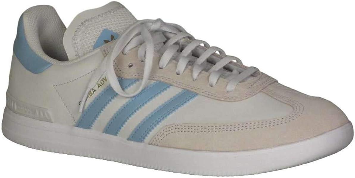 uk availability e06b7 040a9 adidas Kid s Samba ADV Boys Fashion Sneakers Crystal White Clear Blue Cloud  White 7