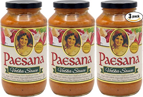 Paesana Vodka Sauce, Made With Natural Ingredients, 25oz (Pack of 3, Total of 75 Oz)