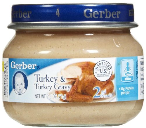 - Gerber 2nd Foods Meats-Turkey & Gravy-2.5 Oz-24 Pack, 24 Count