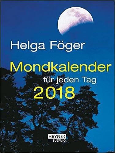 Mondkalender Für Jeden Tag 2018 Taschenkalender Amazonde Helga
