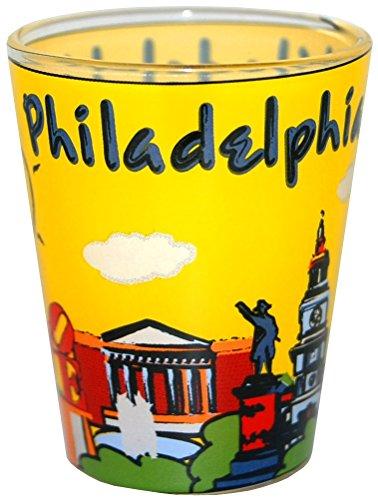 (Philadelphia PA Skyline and Famous Landmark Souvenir Shot Glass)