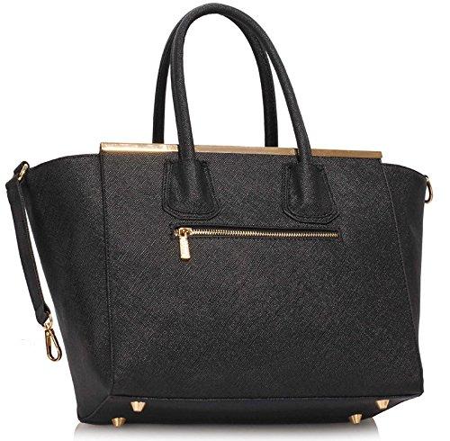 Design Luxury Fashion Zip Ladies Black Handbag Top Bag 1 Medium Shoulder Women Tote Designer Bag 7FFqAfxZd