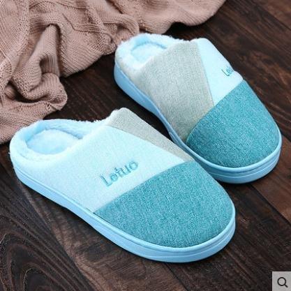 LaxBa Hommes Femmes tricoté coton Anti-Slip Chambre bleu ciel36-37 [pour 35-36 yards]