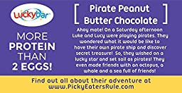Luckybar - Pirate Peanut Butter Chocolate Protein Bar - 12 Count