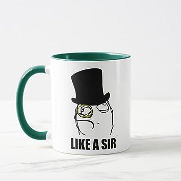 Zazzle Like A Sir Monocle Rage Face Meme Coffee Mug Hunter Green Combo 11