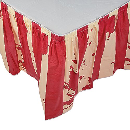 Halloween Circus (HALLOWEEN Big Top Terror CarnEvil Circus Carnival Zombie BLOODY TABLE SKIRT)