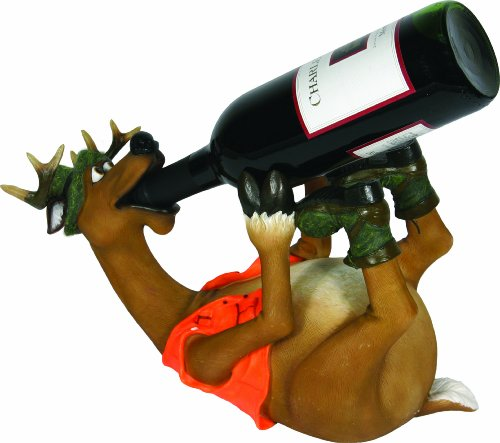 Rivers Edge Hand Painted Deer Wine Bottle Holder