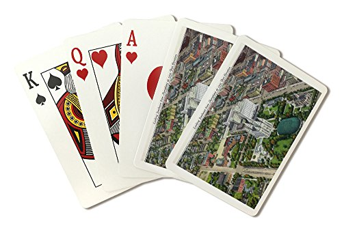 Salt Lake City, Utah - Southeastern Aerial View of the Mormon Temple and Grounds (Playing Card Deck - 52 Card Poker Size with Jokers)