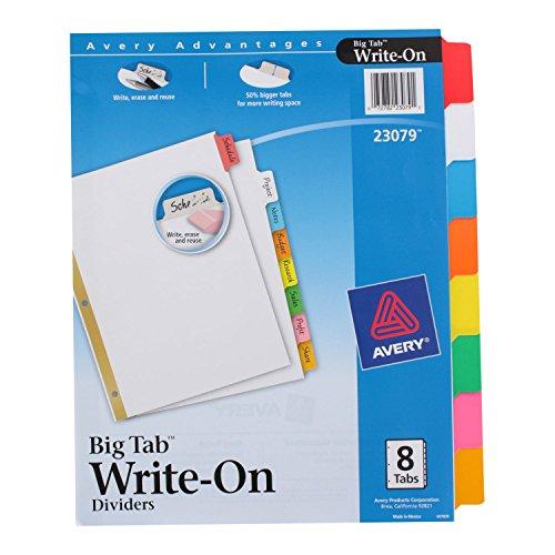Avery Write Erasable Multicolor Divider
