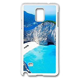 VUTTOO Rugged Samsung Galaxy Note 4 Case, Paradise Islands Zakynthos Greece Case for Samsung Galaxy Note 4 N9100 PC White