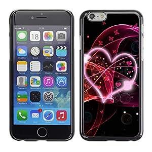 FECELL CITY // Duro Decorativo Carcasa de Teléfono PC Caso Funda / Hard Case Cover foriPhone 6 // Abstract Hear Love