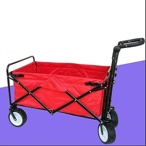 Carro Plegable, utilitario Pull Wagon Plegable Carro de carros Plegables, Gran Capacidad y 4