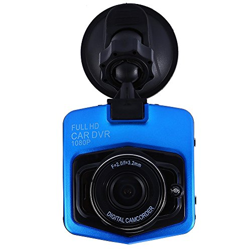 Autolover  Mini Car Dvr Camera Full Hd 1080P Dcr Detector Recorder Camcorder Parking Recorder Dash Cam Video G Sensor Night Vision  Blue