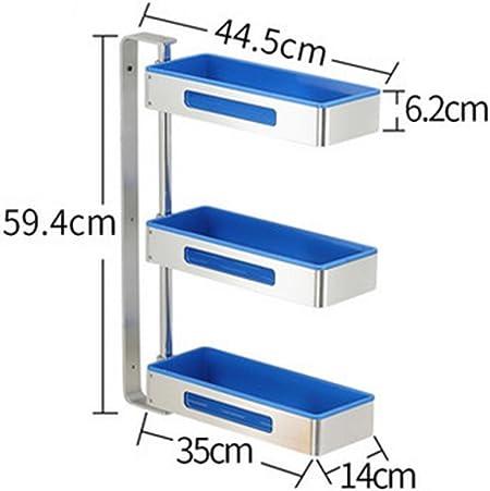 SQL Rincón de cocina giratoria estantería 3 capas espacio platillos de aluminio , blue: Amazon.es: Hogar